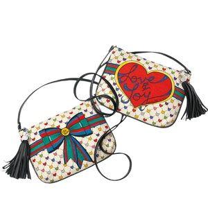 Brighton love & joy navy leather trim purse